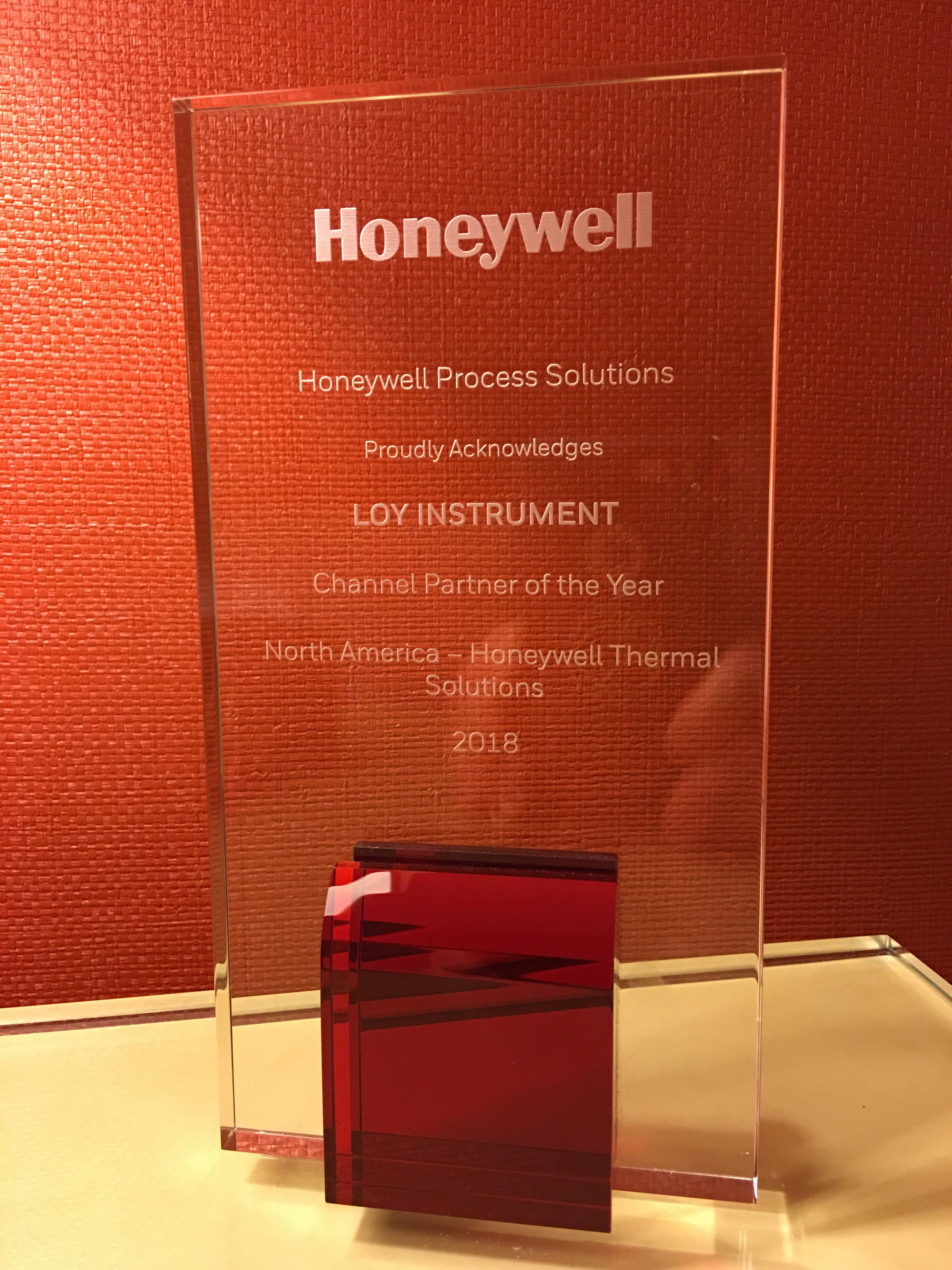 Honeywell Thermal Solutions Channel Partner Of The Year